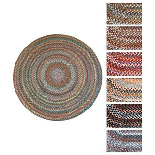 Rhody Rug Augusta Round Braided Wool Rug (8' x 8')