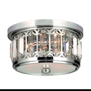 Parlour Collection 3-light Chrome Finish and Clear Crystal Ceiling Light