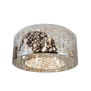 Bright and Modern 9-light LED Crystal Weave 20-inch Flush Mount Ceiling Light