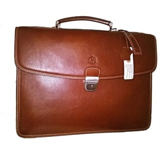 D&P Milan Vegetable Hide Leather Business Briefcase