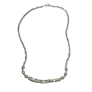 Handmade Tibetan Silver Tubes Beaded Necklace (China)