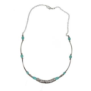 Handmade Tibetan Silver Imitation Turquoise Necklace (China)