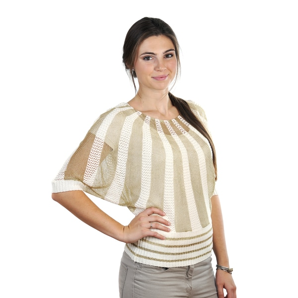J. Furmani Women's Knitted Two-tone Top 15503928
