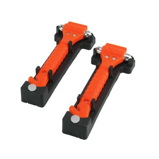 CommuteMate Universal Emergency Hammer Window Punch and Seat Belt Cutter (Pack of 2)