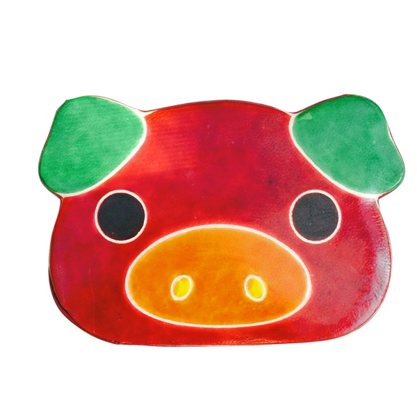 Handmade Pig Leather toy Bank (India)
