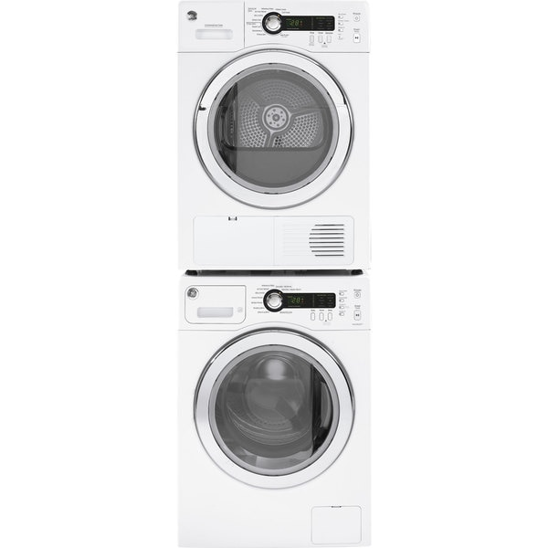 ge compact stackable washer and dryer set overstock shopping big discounts on ge washers. Black Bedroom Furniture Sets. Home Design Ideas