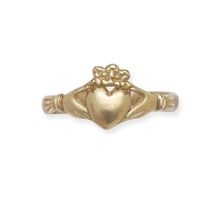 14k Yellow Gold Adjustable Claddagh Celtic Toe Ring