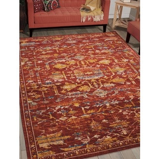 Barclay Butera by Nourison Moroccan Paprika Rug (5'3 x 7'5)
