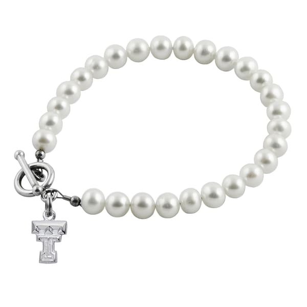 Texas Tech Freshwater Pearl Bracelet (5-6mm)