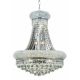 Elegant Lighting 14-light Chrome 20-inch Royal Cut Crystal Clear Hanging Fixture