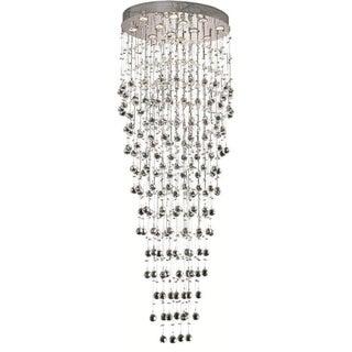 Elegant Lighting 12-light Chrome 28-inch Royal Cut Crystal Clear Large Hanging Fixture