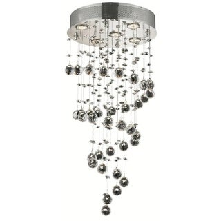 Elegant Lighting 5-light Chrome 16-inch Royal Cut Crystal Clear Hanging Fixture
