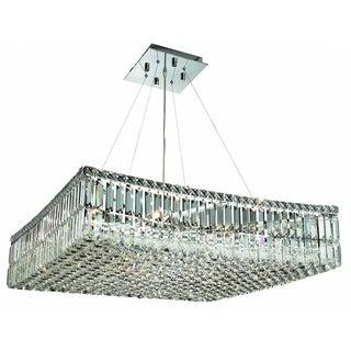 Elegant Lighting 12-light Chrome 28-inch Royal Cut Crystal Clear Hanging Fixture
