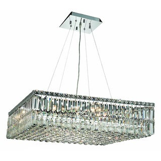 Elegant Lighting 12-light Chrome 32-inch Royal Cut Crystal Clear Hanging Fixture