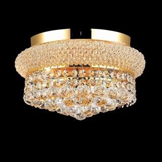 Elegant Lighting Gold 12-inch Royal Cut Crystal Clear Flush Mount