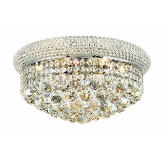 Elegant Lighting 16-inch Chrome Royal Cut Crystal Clear Flush Mount