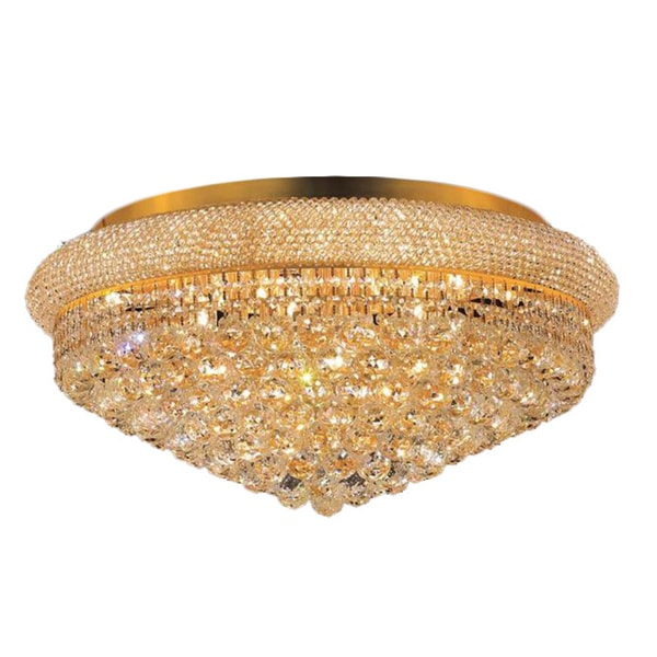 Elegant Lighting Gold Eight Inch Royal Cut Crystal Clear Flush Mount Free Shipping Today