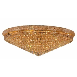 Elegant Lighting Gold 48-inch Royal Cut Crystal Clear Flush Mount