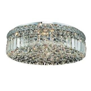 Elegant Lighting 20-inch 6-light Chrome Royal Cut Crystal Clear Flush Mount