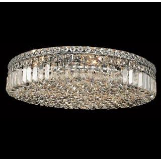 Elegant Lighting 24-inch 9-light Chrome Royal Cut Crystal Clear Flush Mount