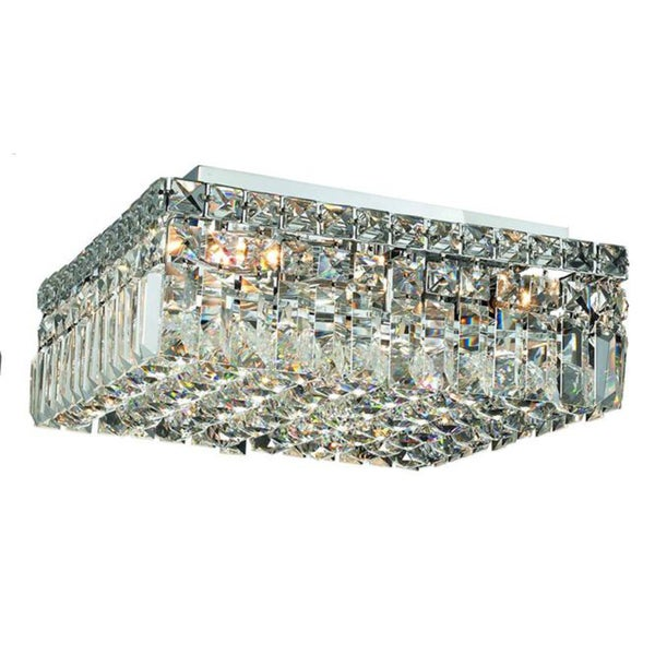 Elegant Lighting Chrome  Inch Royal Cut Crystal Clear Flush