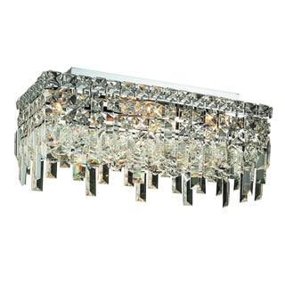 Elegant Lighting 4-light Chrome 16-inch Royal Cut Crystal Clear Flush Mount
