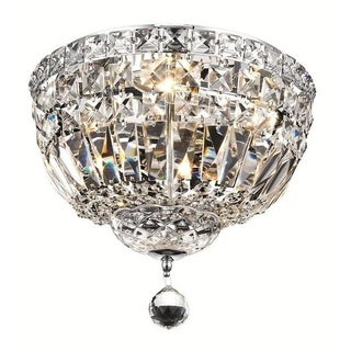 Elegant Lighting 4-light Chrome 12-inch Royal Cut Crystal Clear Flush Mount