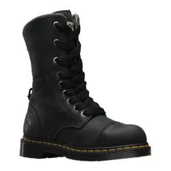 Women's Dr. Martens Leah Steel Toe Boot Black Wyoming