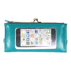 Women's Latico Mavis Phone Wallet 5664 Jade Leather