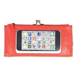 Women's Latico Mavis Phone Wallet 5664 Poppy Leather