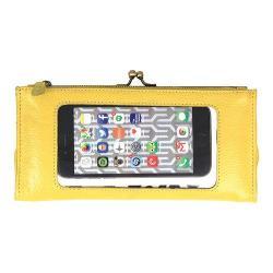 Women's Latico Mavis Phone Wallet 5664 Yellow Leather