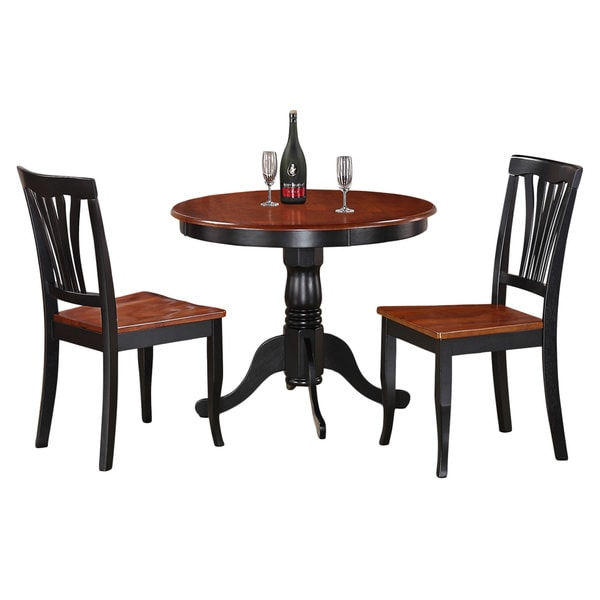 Black Cherry 36 Pedestal Small Dining Table Kitchen Breakfast Nook Furniture photo - 1