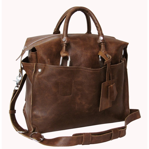 Amerileather Waxy Brown Holmes Investigator Briefcase/Tote