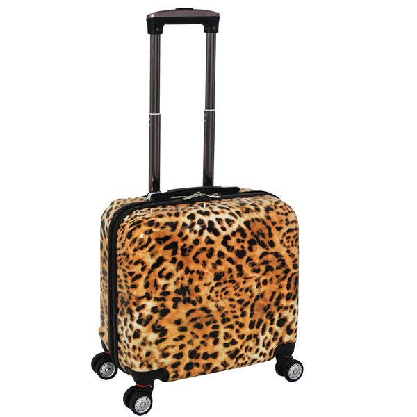 World Traveler Leopard 16-inch Carry On Hardside Spinner 12-inch Laptop/Tablet Overnighter