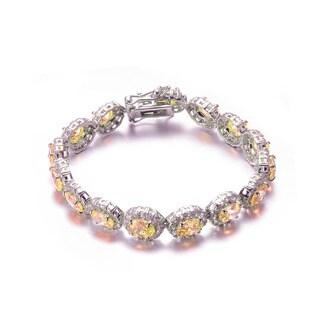 Collette Z Sterling Silver Cubic Zirconia Oval Shape Bracelet