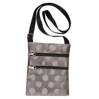 Journee Collection Women's Polka-dot Zipper Pocket Crossbody Handbag