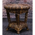 Somette Indoor/Outdoor 21-inch Rattan Round Side Table (Philippines)