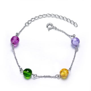 Collette Z Sterling Silver Cubic Zirconia Multi Color Bracelet