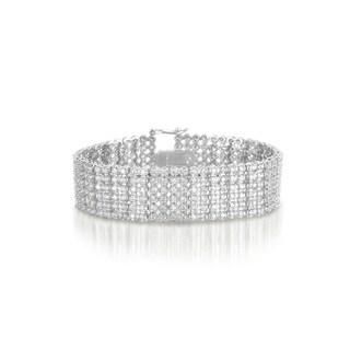 Collette Z Sterling Silver Cubic Zirconia Wide 6 Row Tennis bracelet