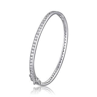 Collette Z Sterling Silver Cubic Zirconia Tennis Style Bangle