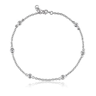 Collette Z Sterling Silver Cubic Zirconia Diamond by the Yard Bracelet