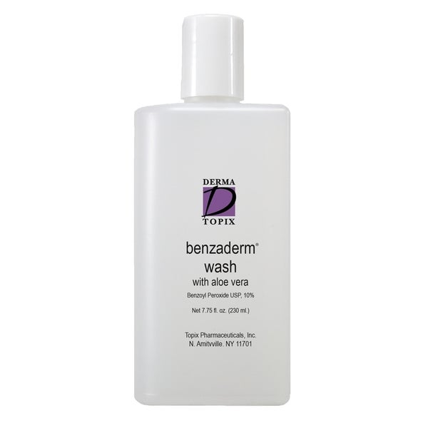 Derma Topix Benzoyl Peroxide 10-percent Benzaderm Wash with Aloe Vera