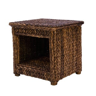 Somette Indoor/Outdoor 23-inch Rattan Square End Table