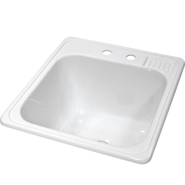 Lyons Acrylic Self-Rimming Laundry Tub Sink