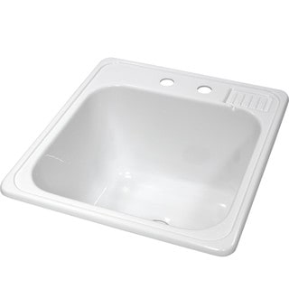 Lyons Acrylic Self-Rimming Laundry Tub Sink