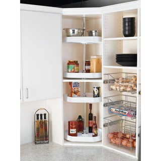 Rev-A-Shelf 20-inch D-shape 2-Shelf Lazy Susan