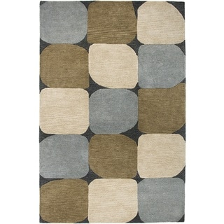 Rizzy Home Blue Hand-Tufted New Zealand Wool Accent Rug (8' x 10')