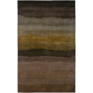 Rizzy Home Brown Colours Collection Hand-Tufted New Zealand Wool Accent Rug (8' x 10')
