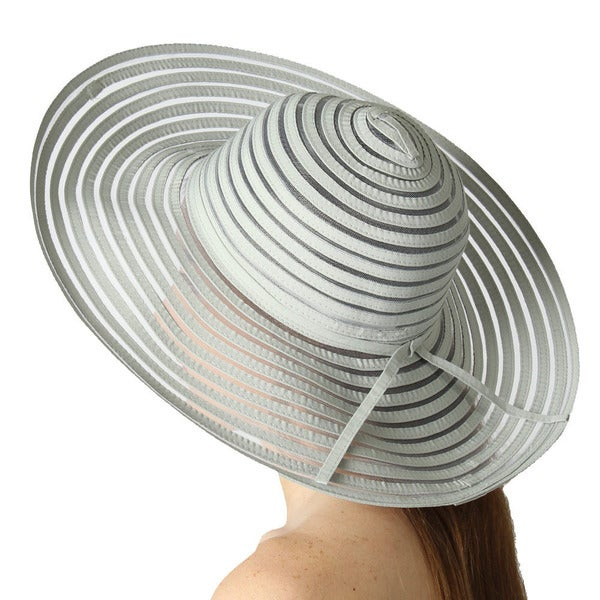 KC Signatures Women's Alexis Striped Floppy Hat with UPF 50+