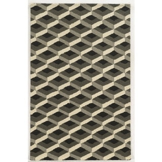 Rizzy Home Grey Country Collection Hand-Tufted New Zealand Wool Accent Rug (8' x 10')